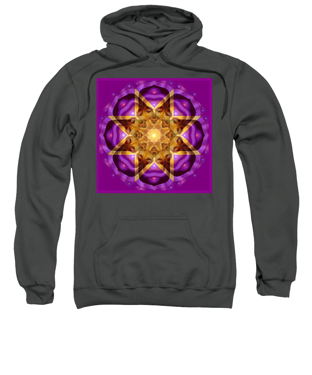 Buddha Sweatshirt featuring the painting Buddha Mandala by Sue Halstenberg