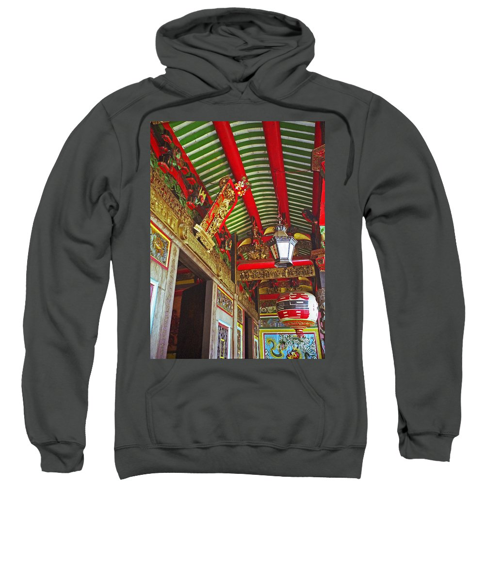 Vietnam Sweatshirt featuring the photograph Nord Hoi Temple Ceiling by Rich Walter