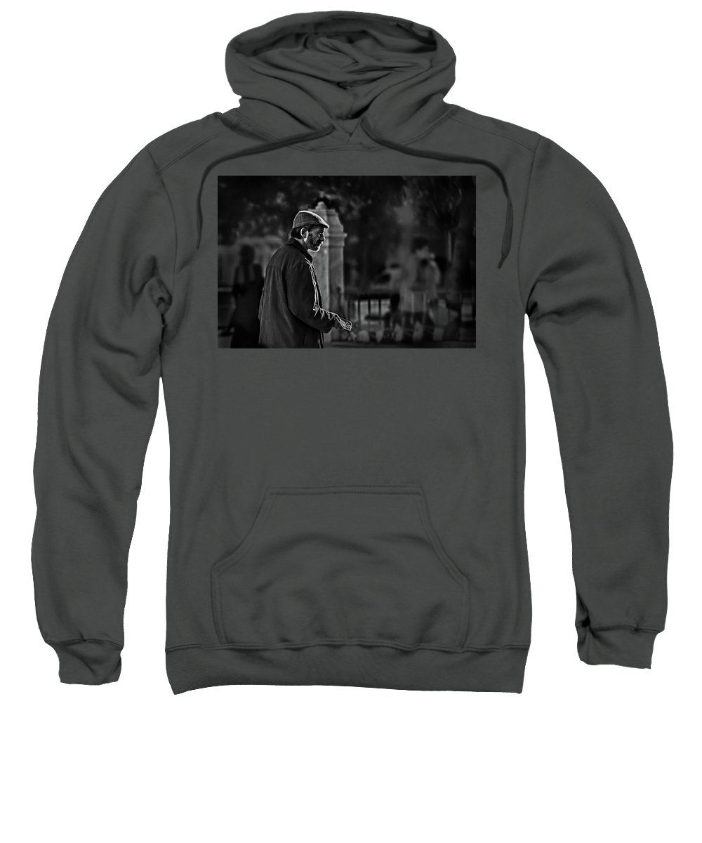 Adult Sweatshirt featuring the photograph Buddy Can You Spare A Dime? by Peter Hayward Photographer