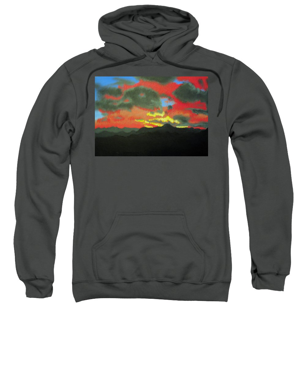 Sunset Sweatshirt featuring the painting Buenas Noches by Marco Morales
