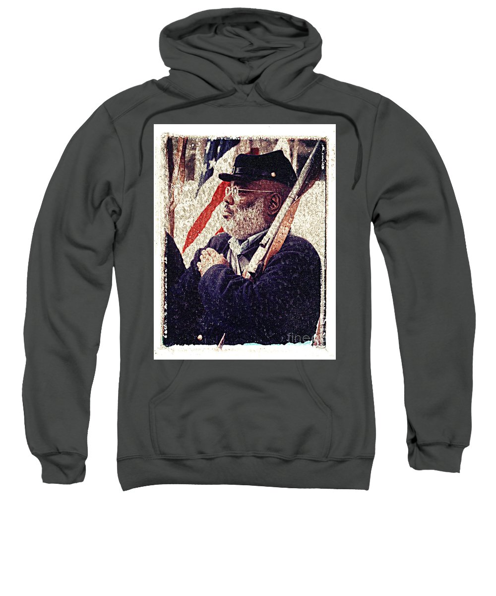 Buffalo Soldier Sweatshirt featuring the photograph Buffalo Soldier by Keith Dillon