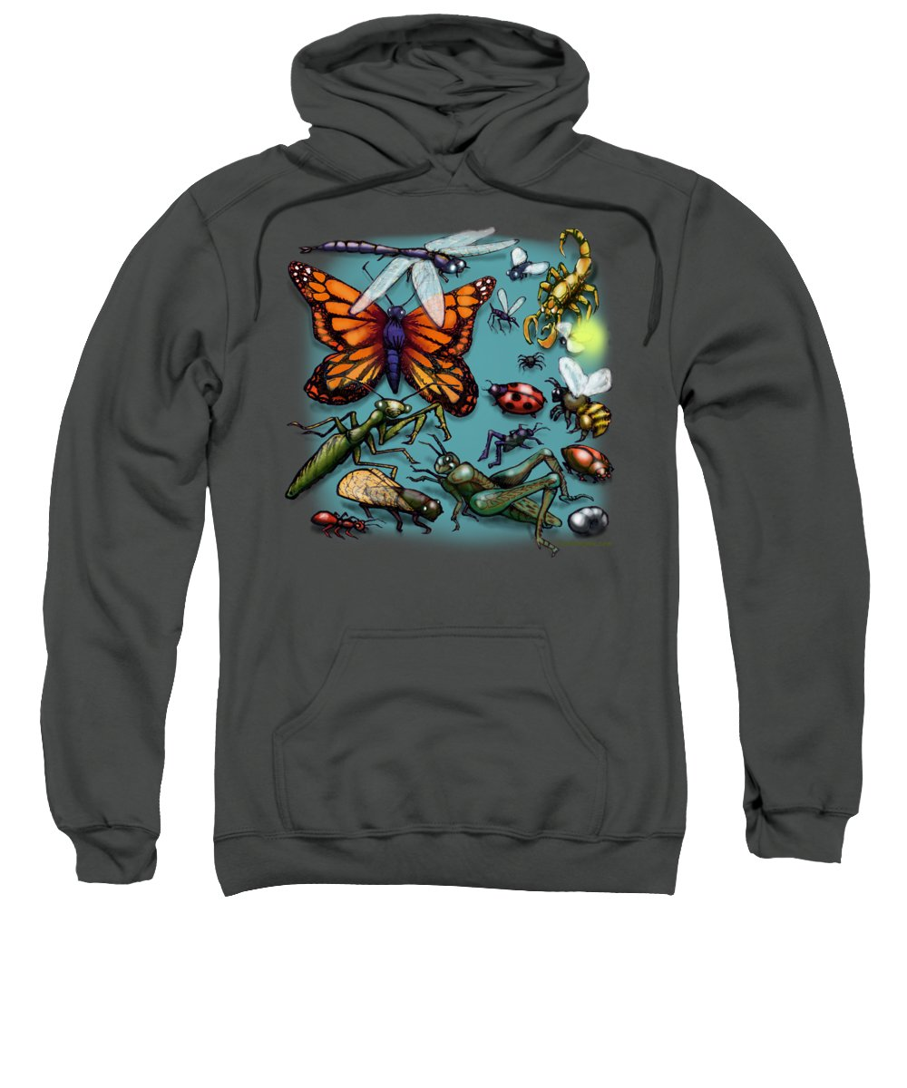 Bug Sweatshirt featuring the painting Bugs by Kevin Middleton