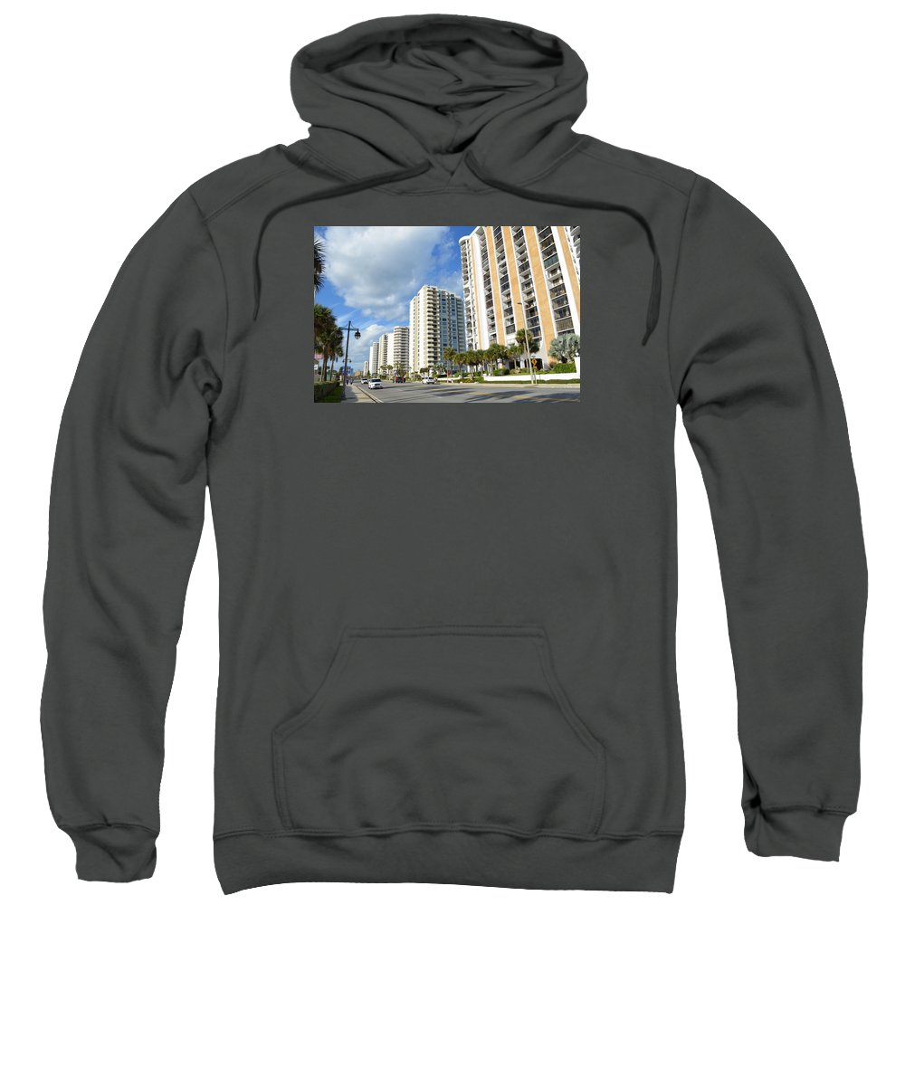 Buildings Sweatshirt featuring the photograph Buildings In Florida by Edgar Soto