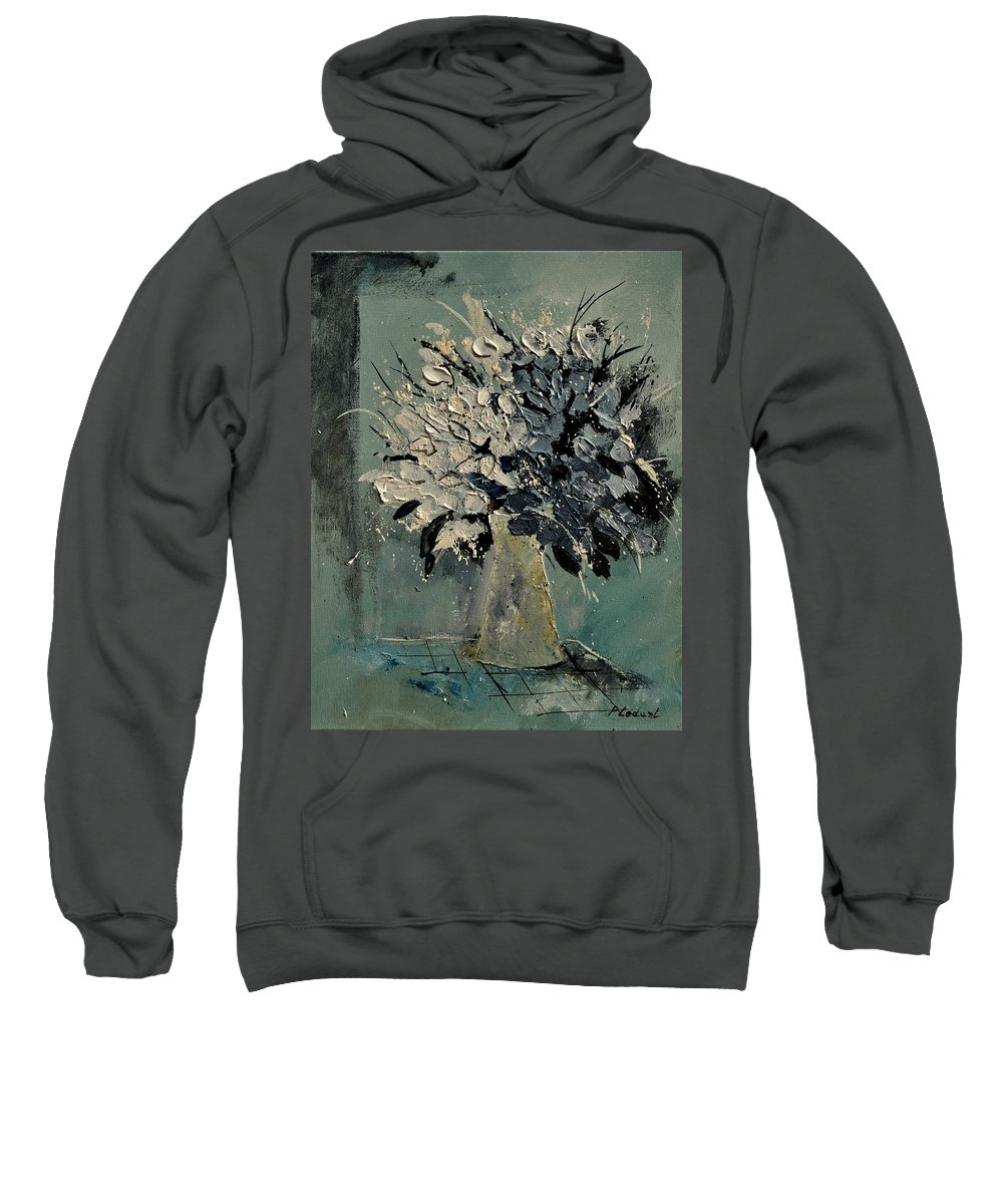 Flowers Sweatshirt featuring the painting Bunch 451110 by Pol Ledent