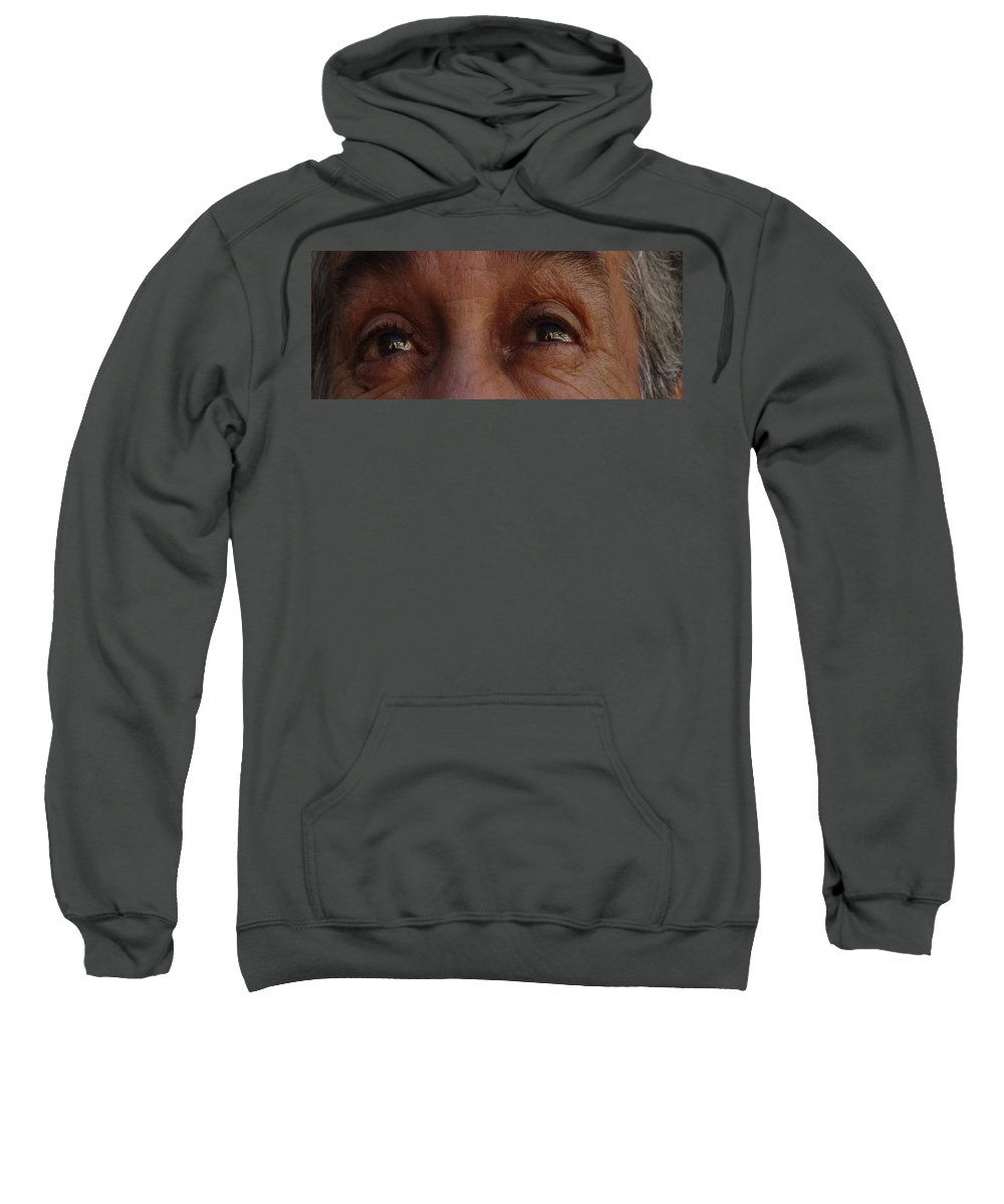 Eyes Sweatshirt featuring the photograph Burned Eyes by Peter Piatt