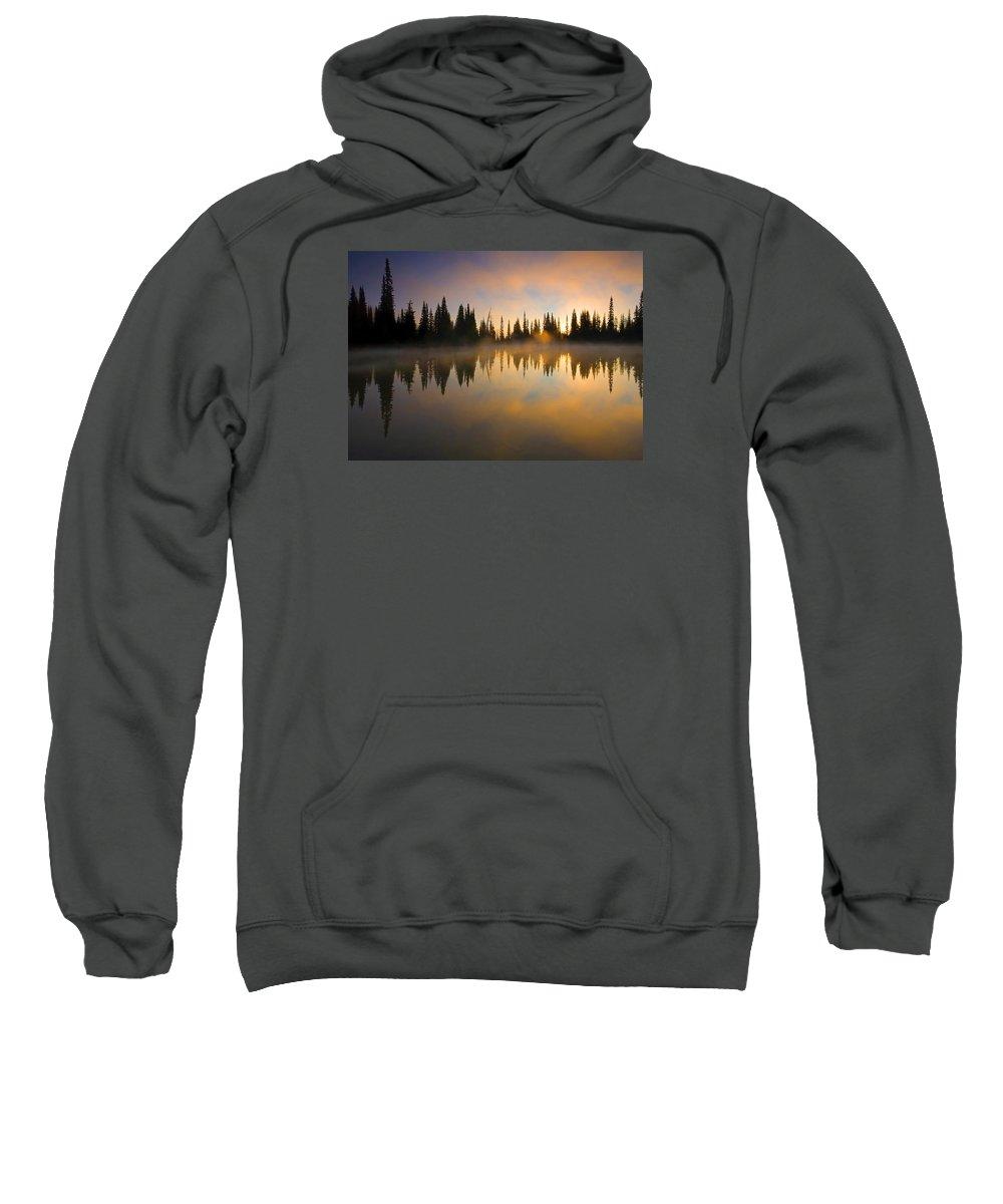 Lake Sweatshirt featuring the photograph Burning Dawn by Mike Dawson