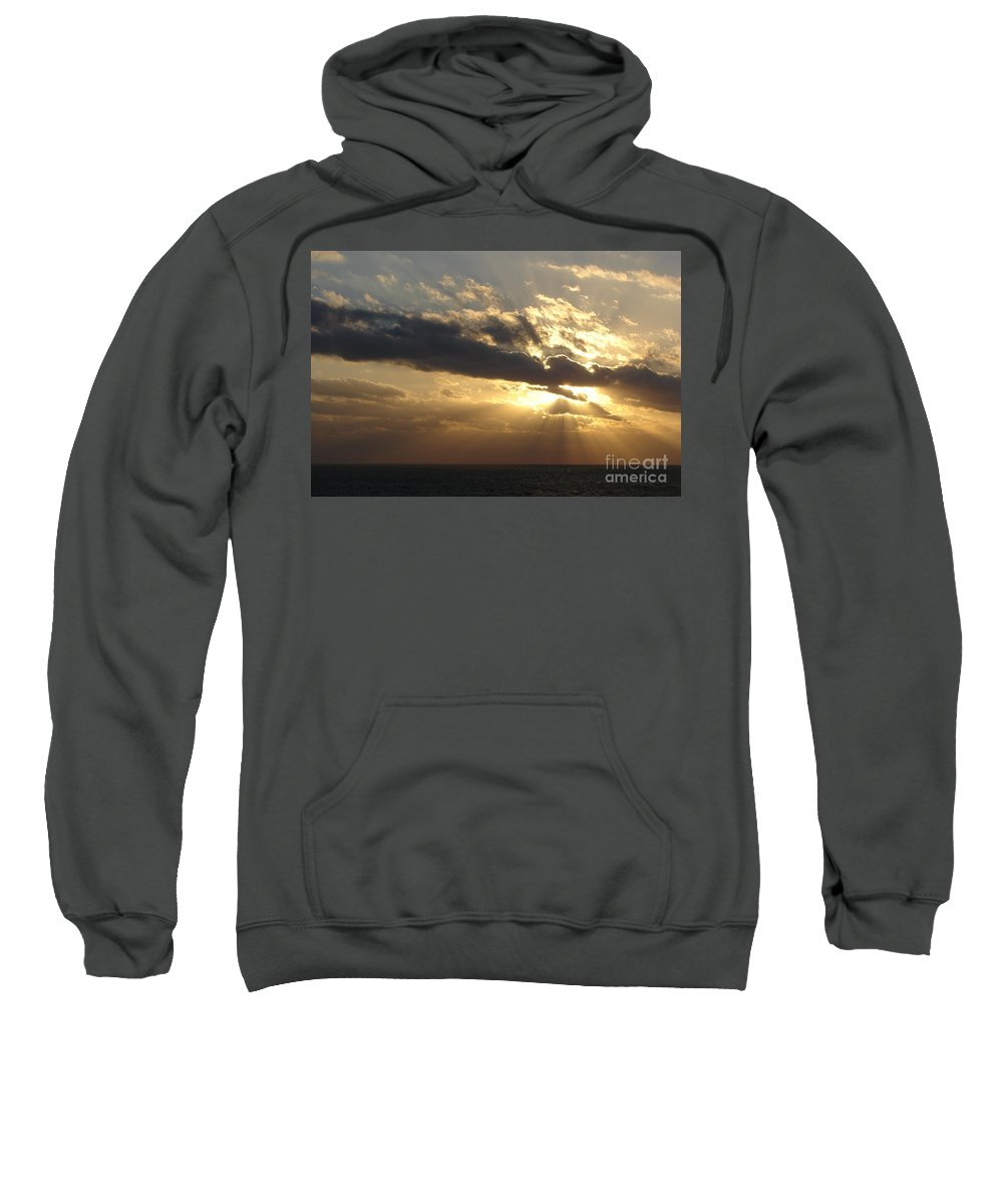 Sunrise Sweatshirt featuring the photograph Burst by Priscilla Richardson