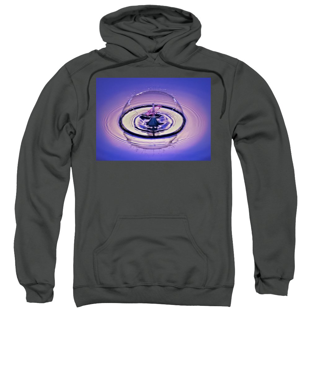 Water Drop Collision Sweatshirt featuring the photograph Bursting My Bubble by Susan Candelario