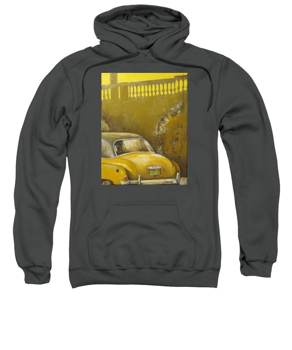 Havana Sweatshirt featuring the painting Buscando La Sombra by Tomas Castano