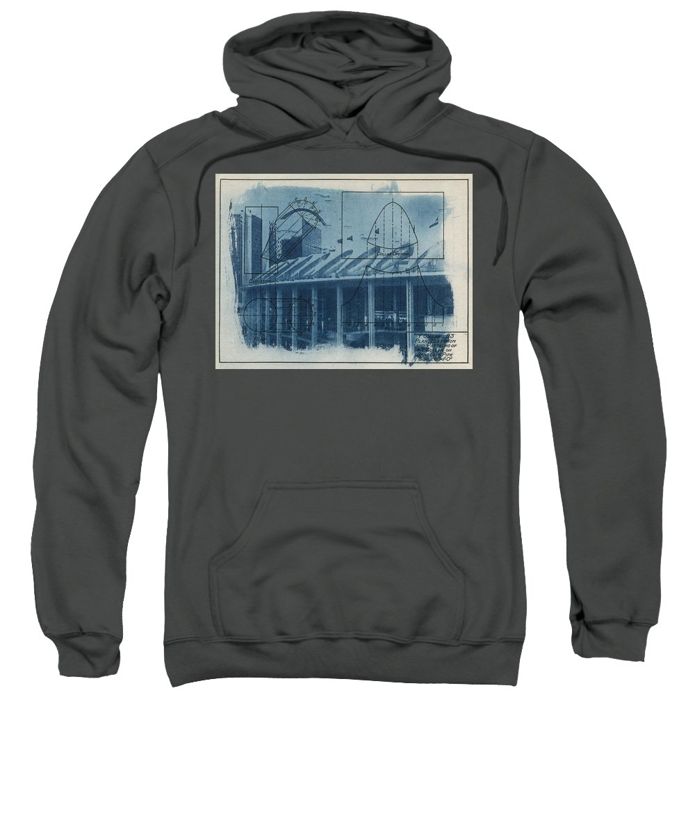 Blue Sweatshirt featuring the photograph Busch Stadium by Jane Linders