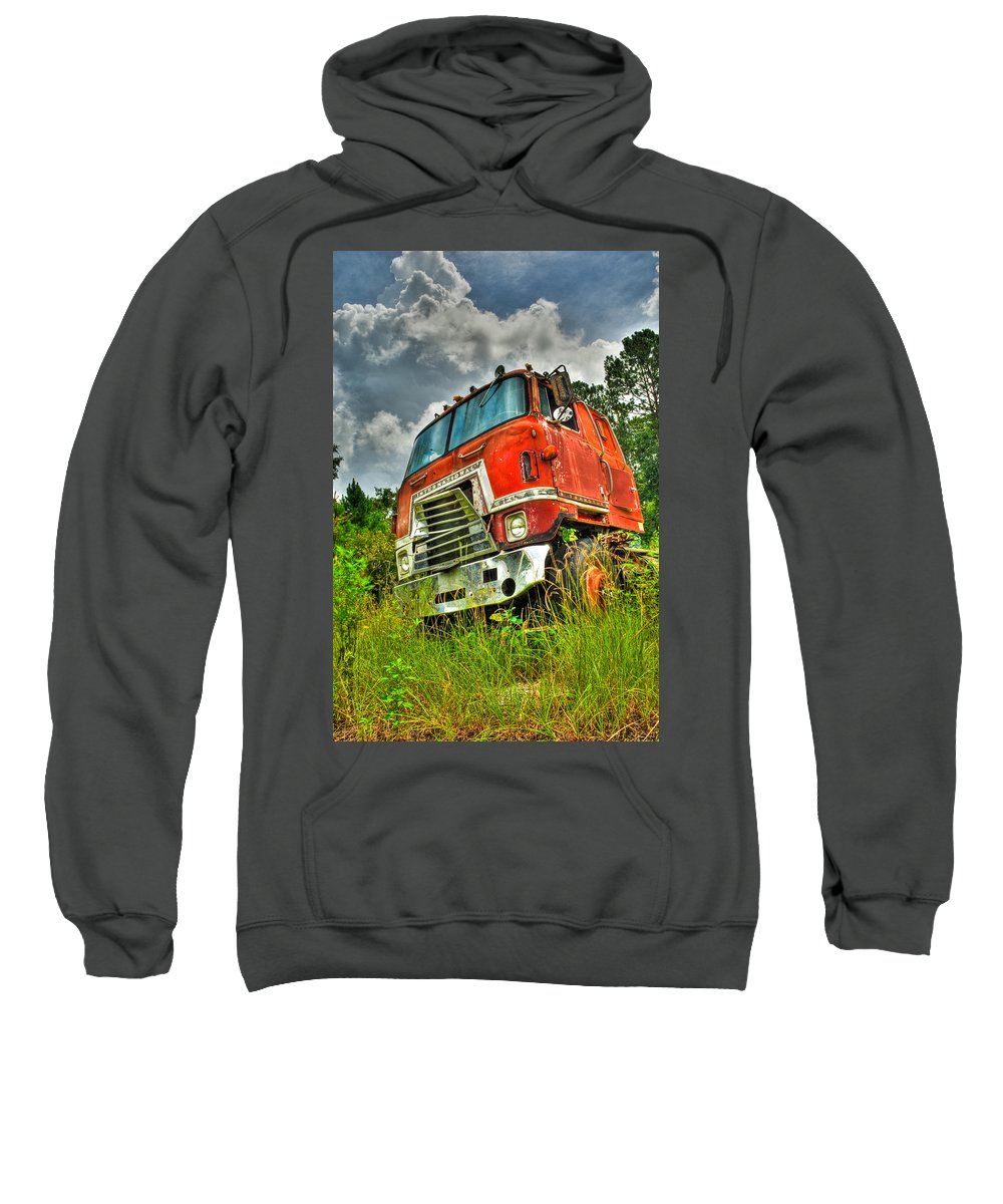 Truck Sweatshirt featuring the photograph Busted And Rusted by Rich Leighton