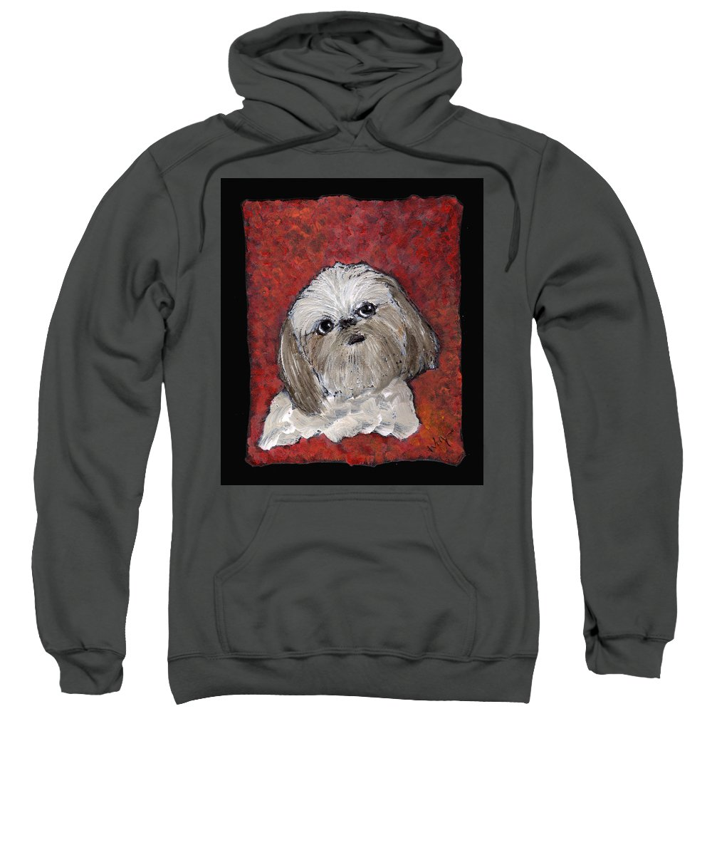 Dog Sweatshirt featuring the painting Buster by Wayne Potrafka