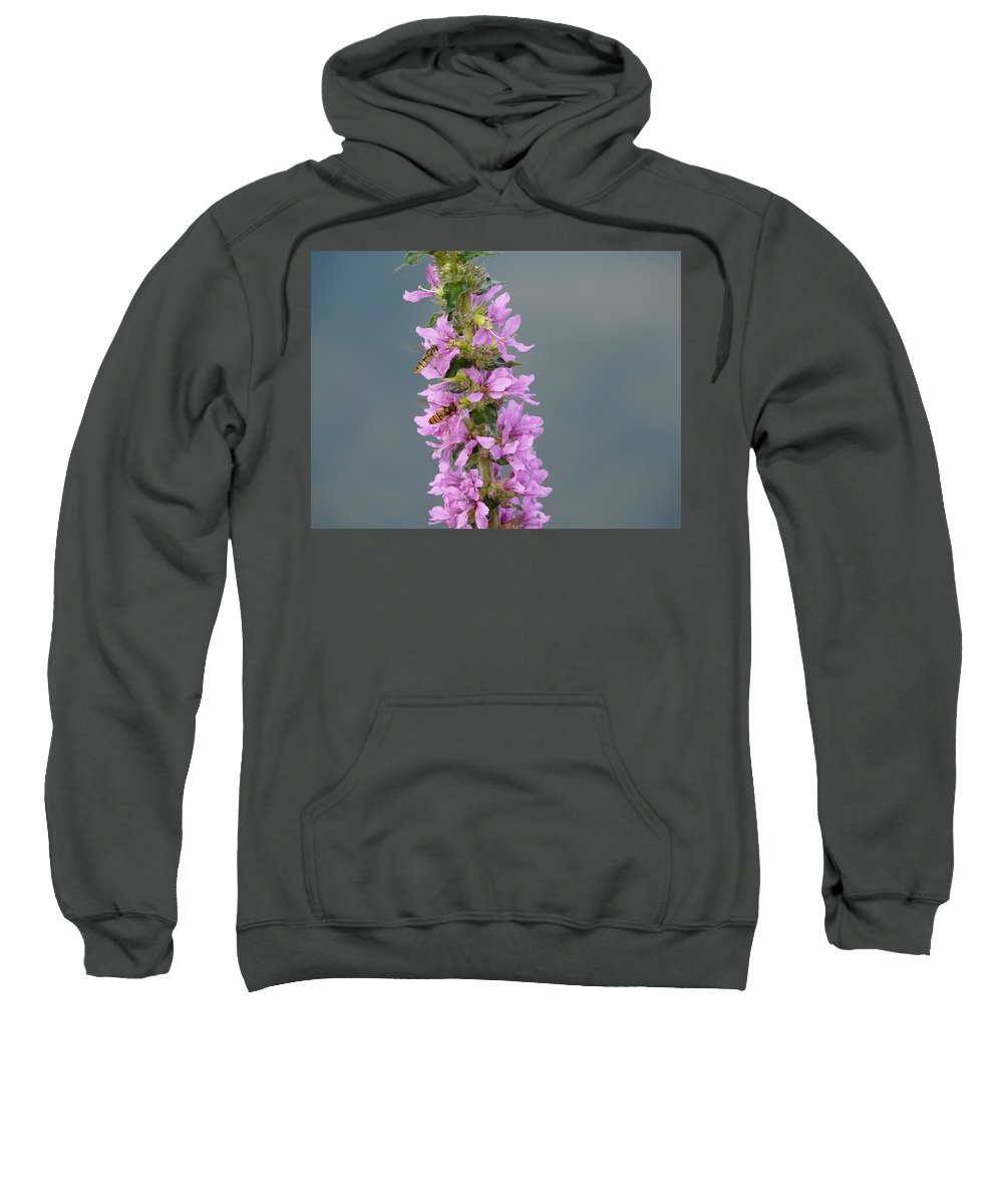 Flower Sweatshirt featuring the photograph Busy Flower by Valerie Ornstein