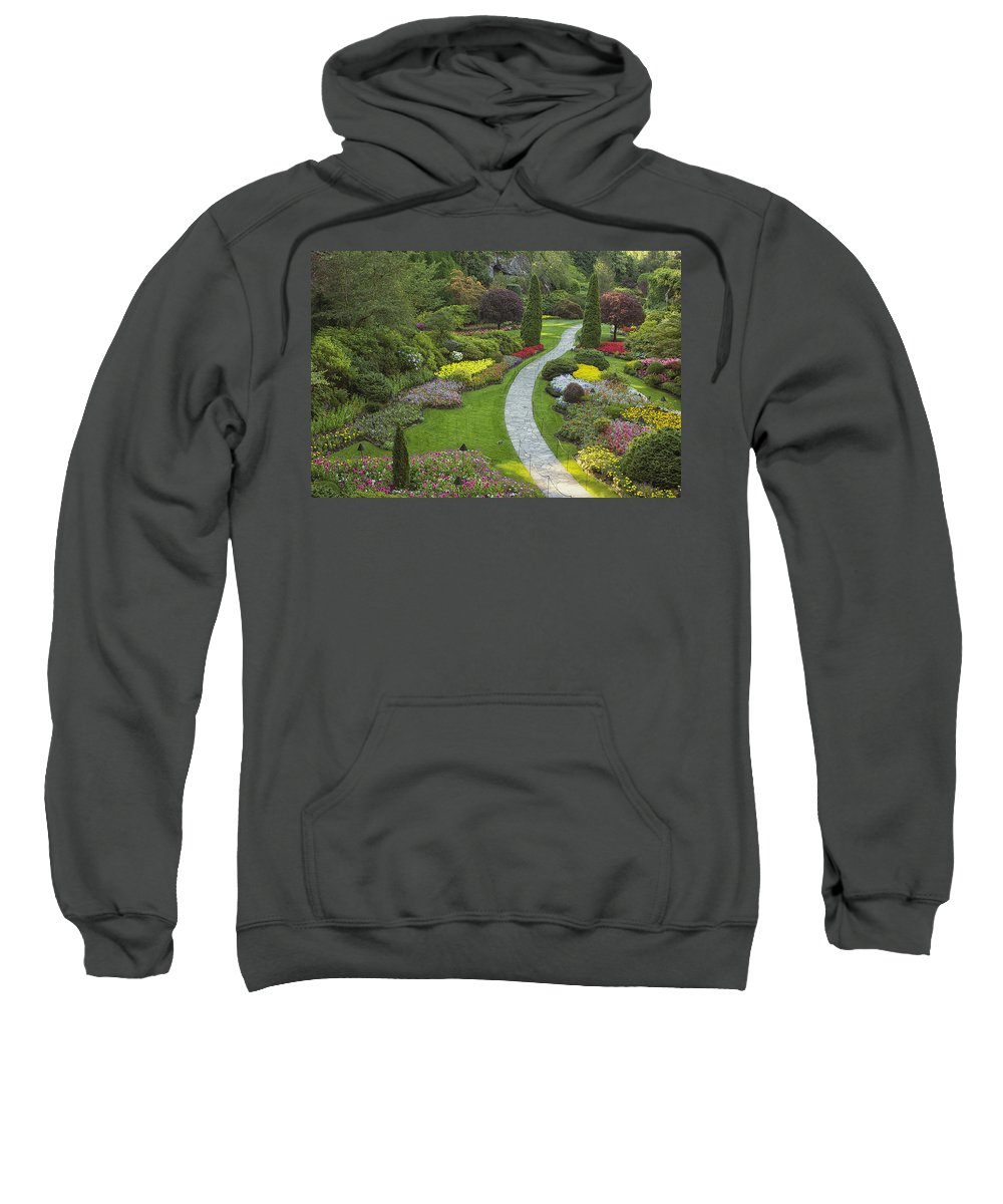 Gardens Sweatshirt featuring the photograph Butchart Gardens by Eunice Gibb