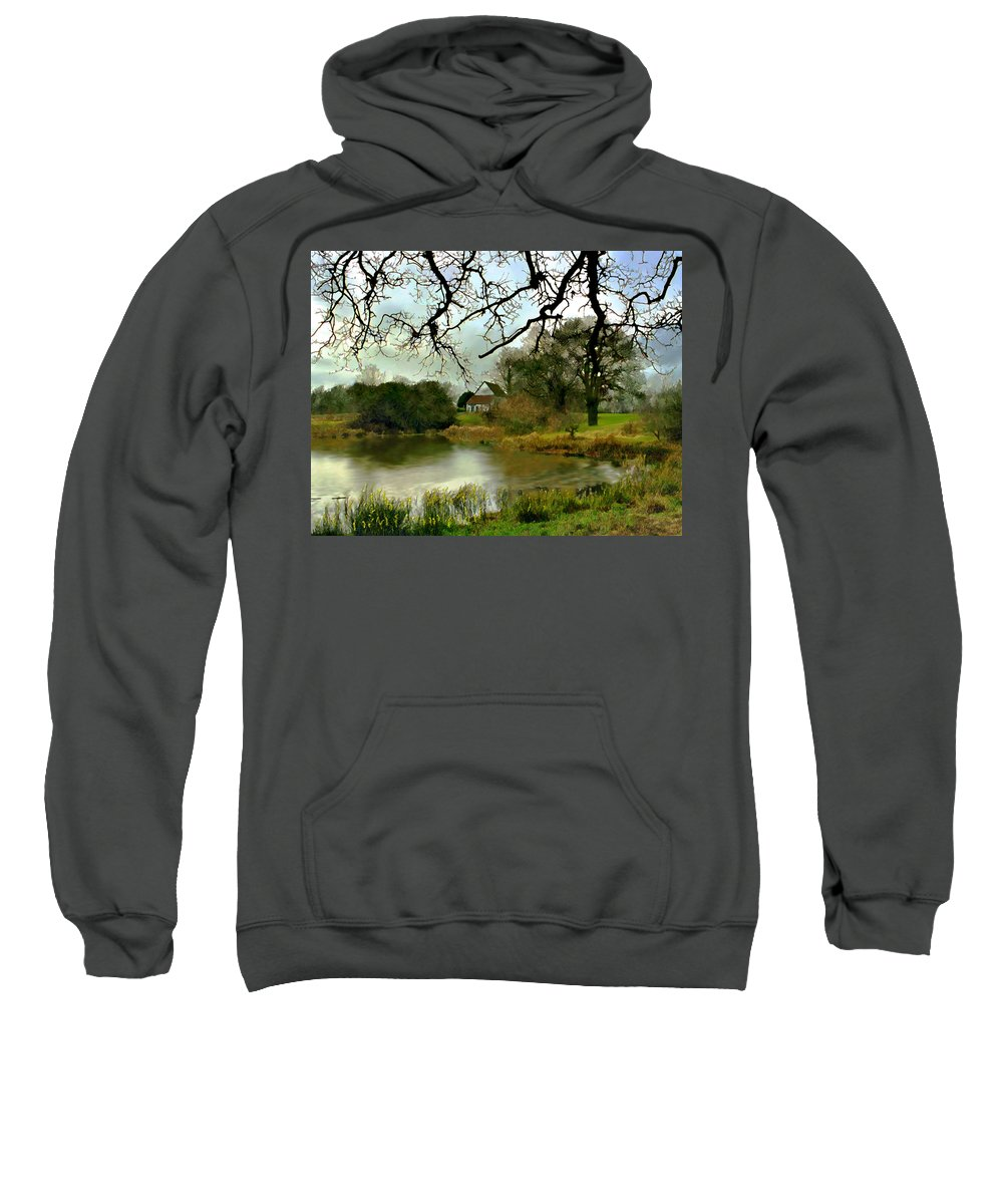 England Sweatshirt featuring the photograph Butlers Retreat Epping Forest Uk by Kurt Van Wagner