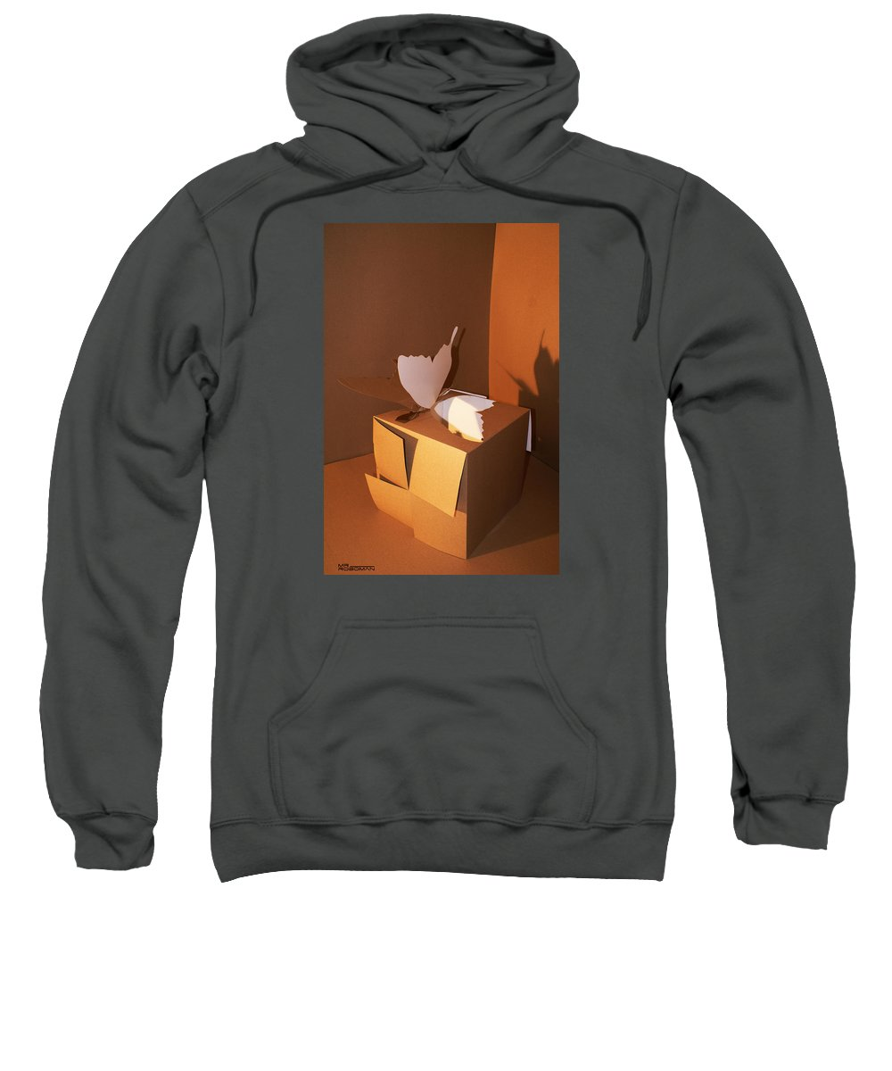 Mr Roboman Sweatshirt featuring the sculpture Butterfly 2 by Mr ROBOMAN