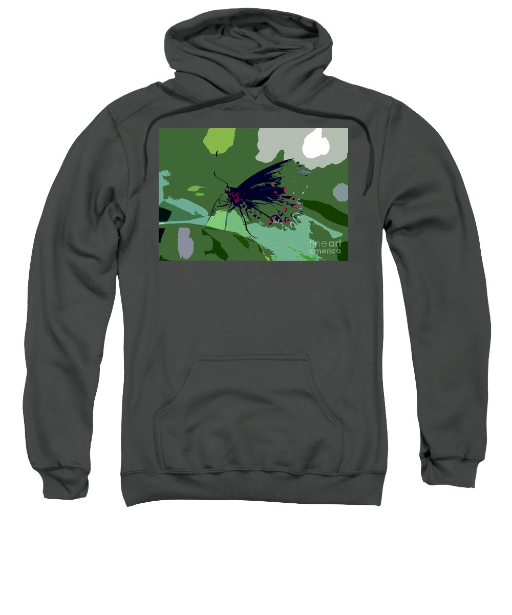 Butterfly Sweatshirt featuring the photograph Butterfly Work Number Ten by David Lee Thompson