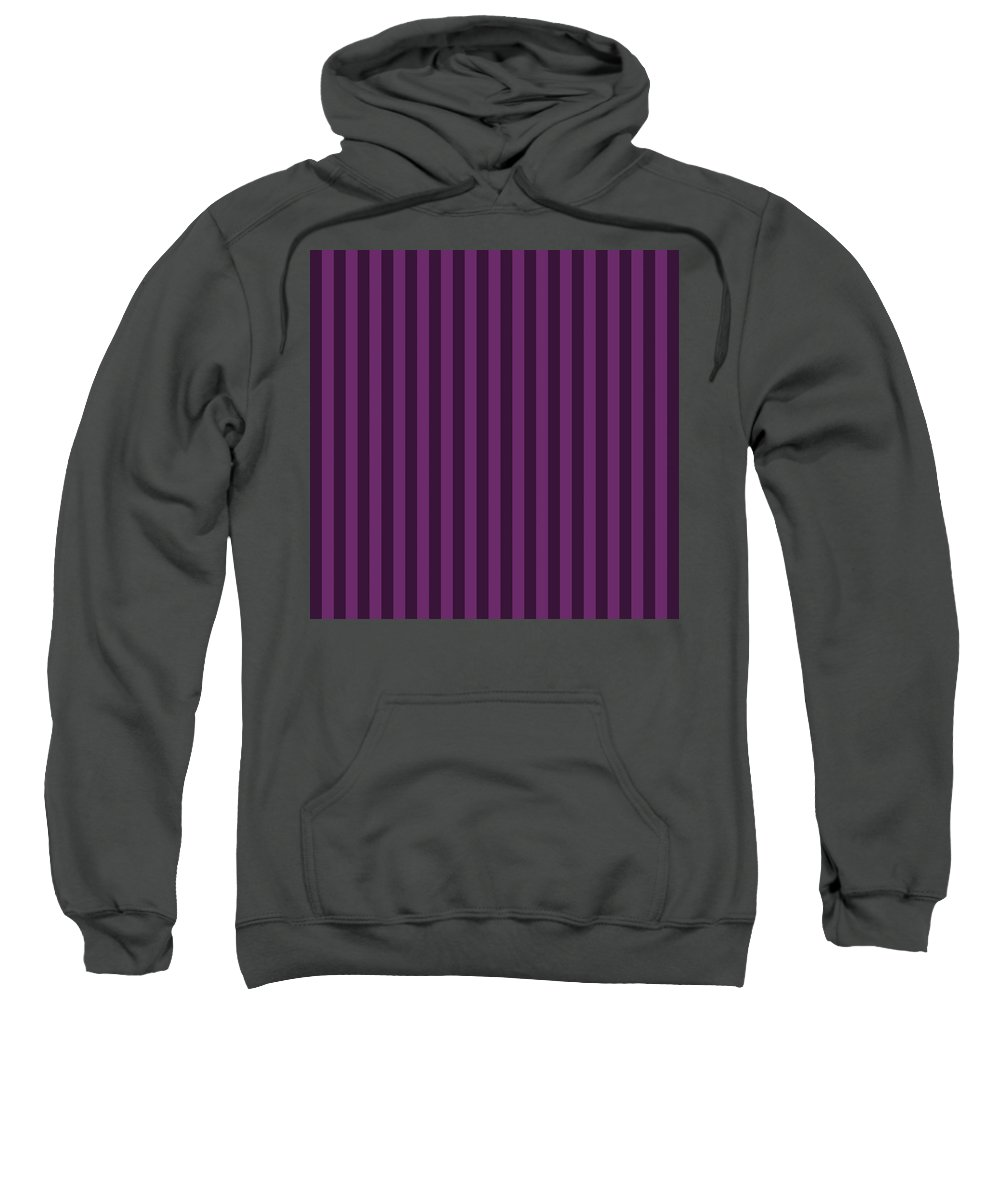 Byzantium Sweatshirt featuring the digital art Byzantium Purple Striped Pattern Design by Ross