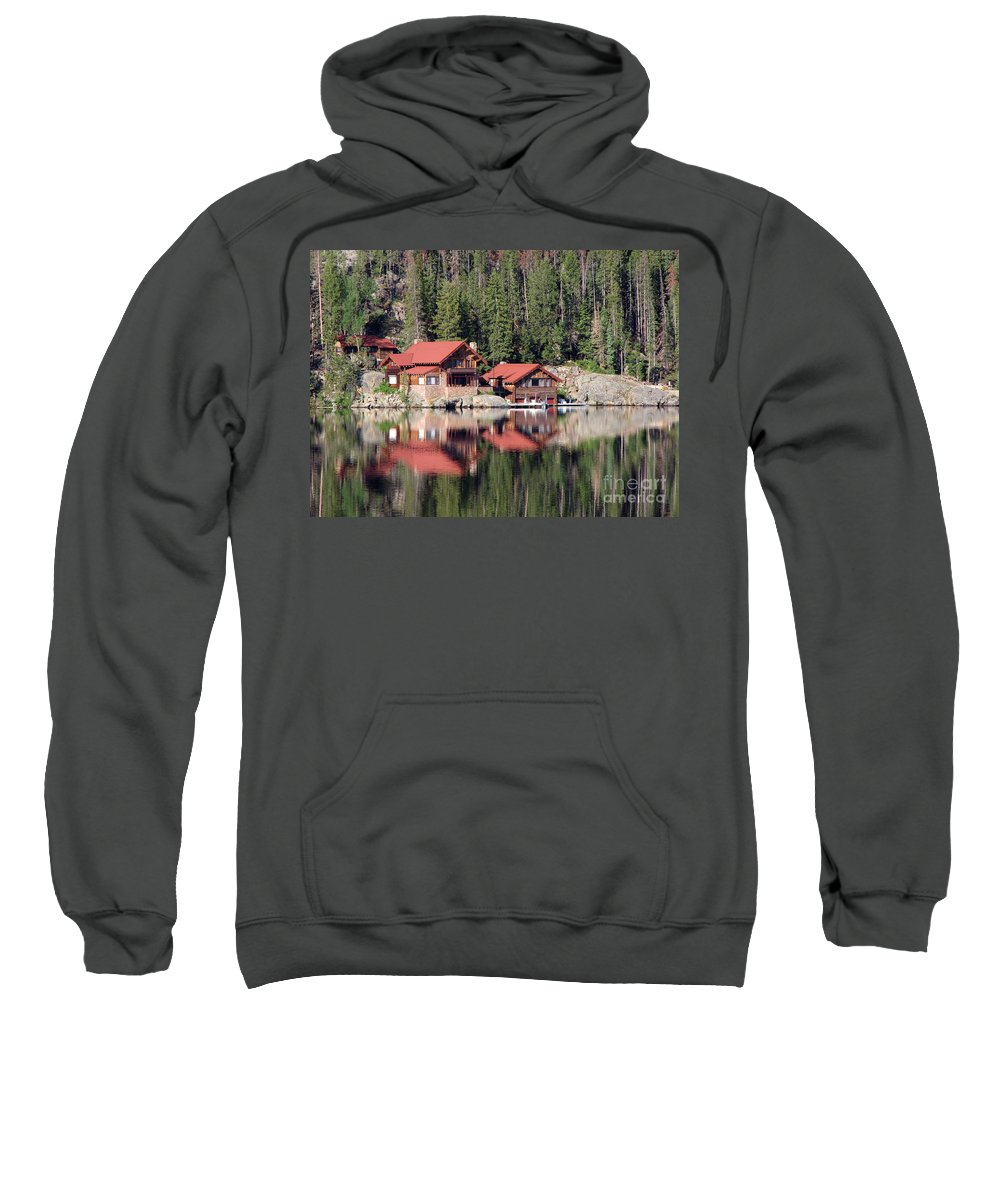 Cabin Sweatshirt featuring the photograph Cabin by Amanda Barcon