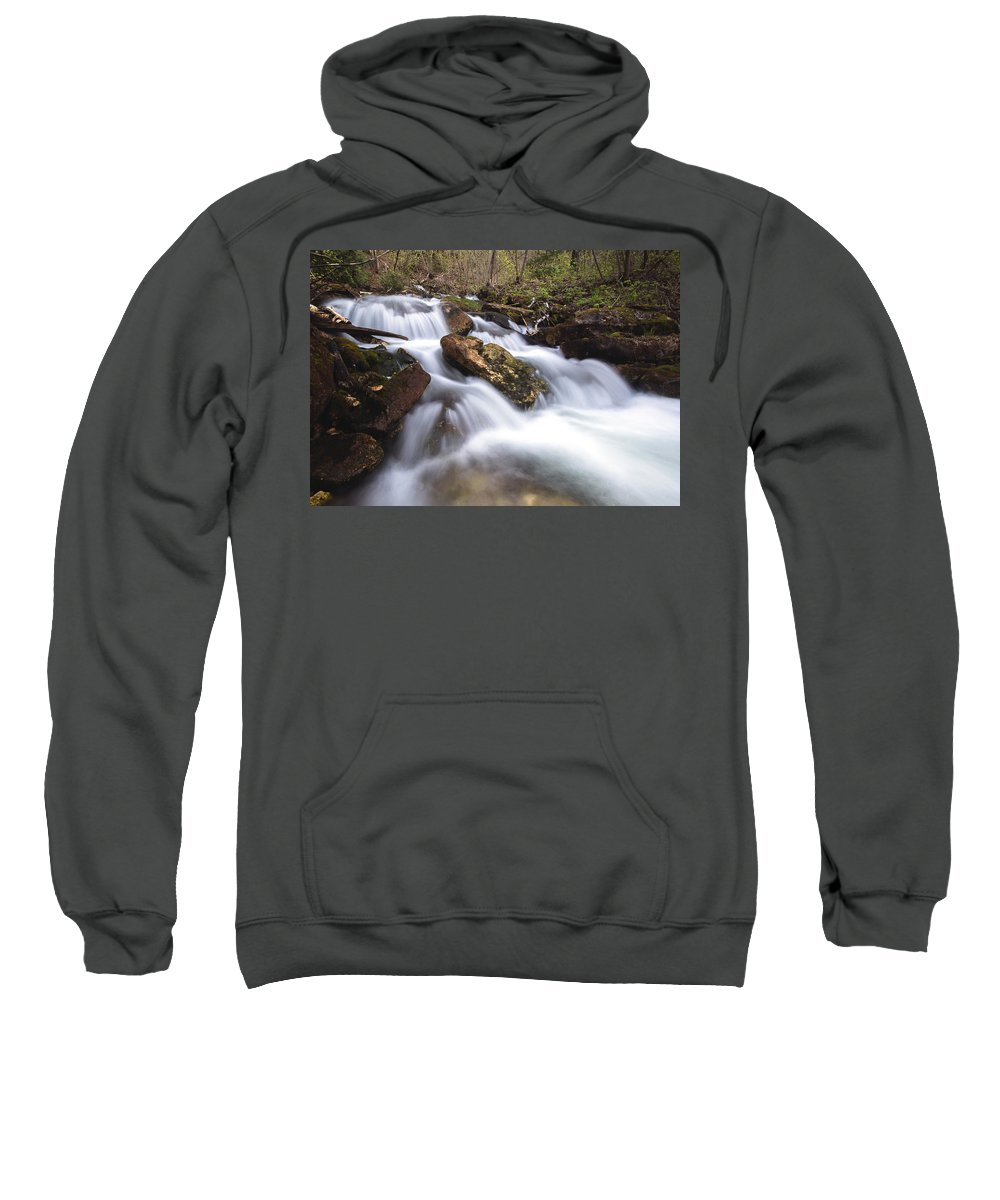 Landscape Sweatshirt featuring the photograph Cabot Head Waterfall by Cale Best