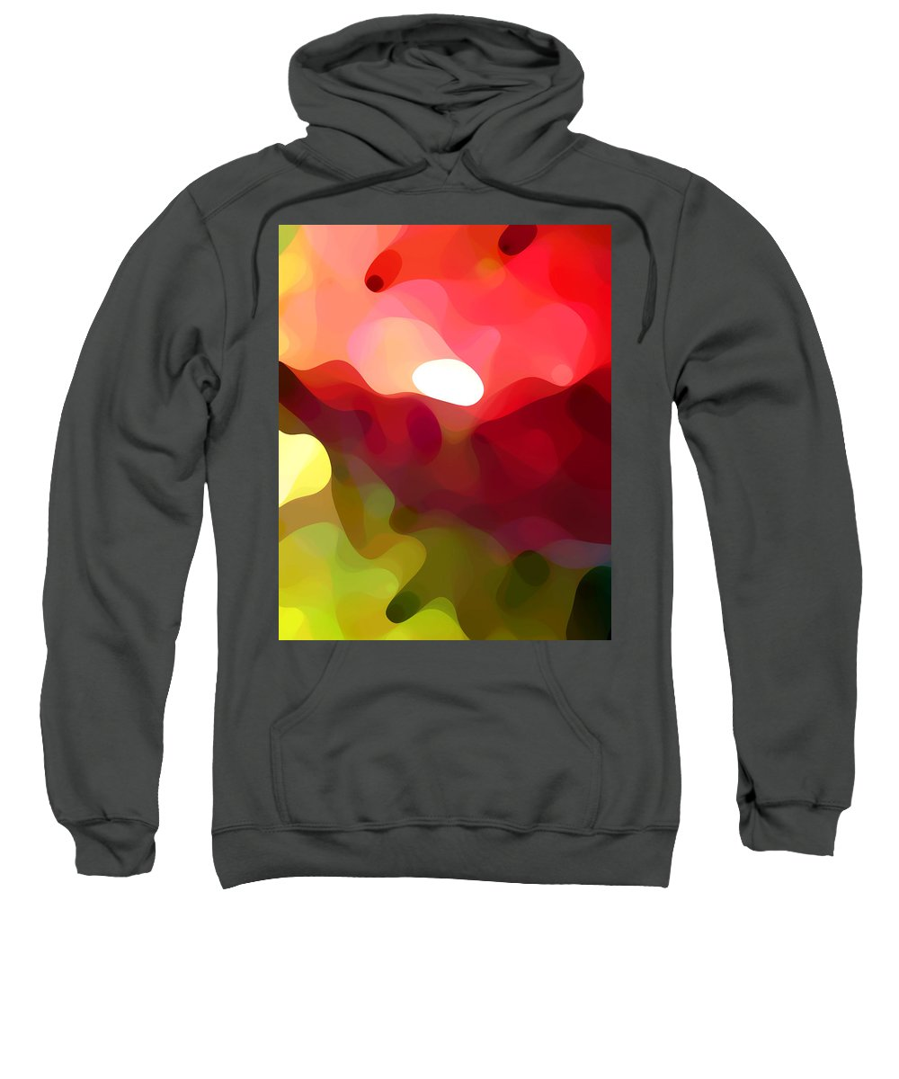 Abstract Art Sweatshirt featuring the painting Cactus Resting by Amy Vangsgard