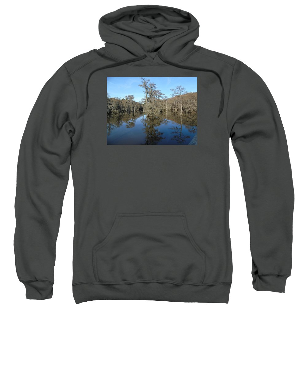 Caddo Lake On A Perfect Day Sweatshirt featuring the photograph Caddo by Shellda Patino