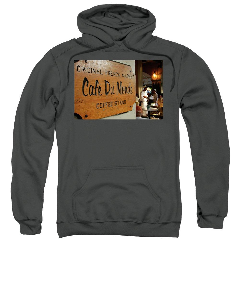 Cafe Du Monde Sweatshirt featuring the photograph Cafe Du Monde by KG Thienemann