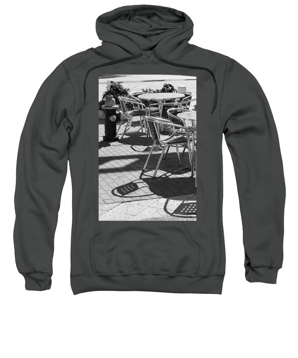Fire Hydrant Sweatshirt featuring the photograph Cafe Hydrant by Rob Hans