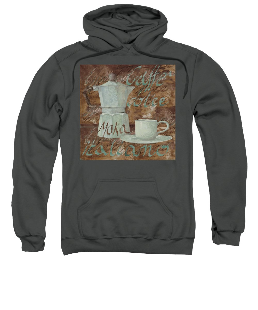 Caffe Sweatshirt featuring the painting Caffe Espresso by Guido Borelli