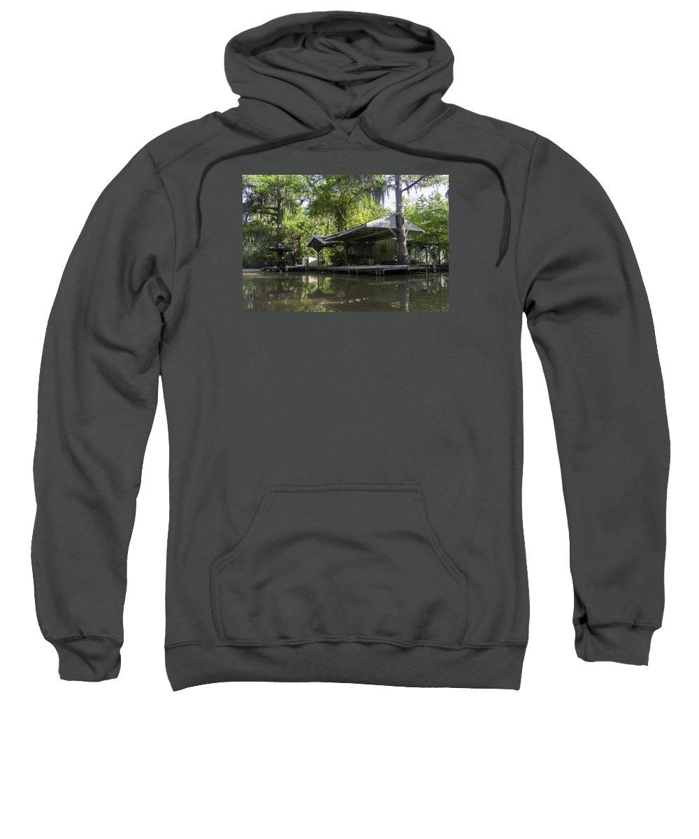 Louisiana Wetlands Sweatshirt featuring the photograph Cajun Shangri-la by Richard Waller