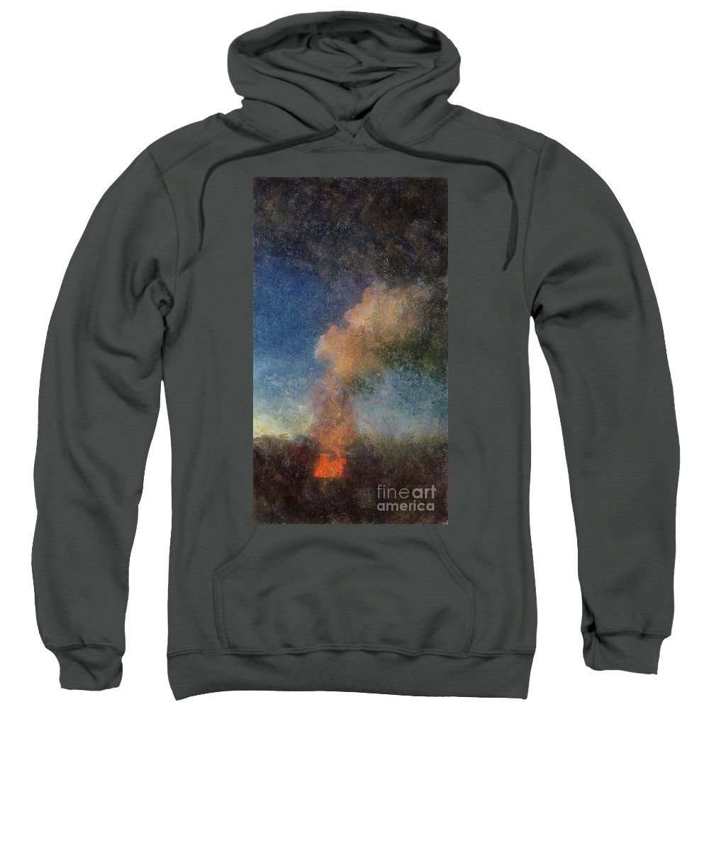Landscape Sweatshirt featuring the digital art Caldron by Sobano S
