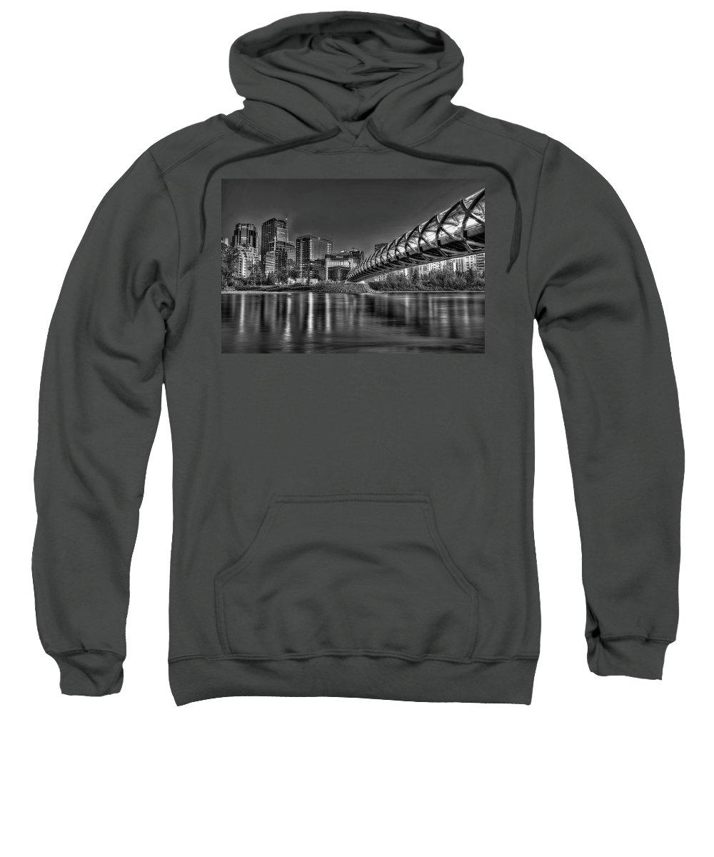Calgary Sweatshirt featuring the photograph Calgary Peace Bridge by Colin MacDonald