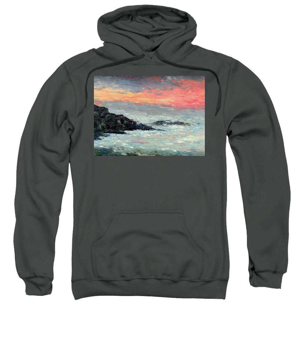Seascape Sweatshirt featuring the painting California Coast by Gail Kirtz