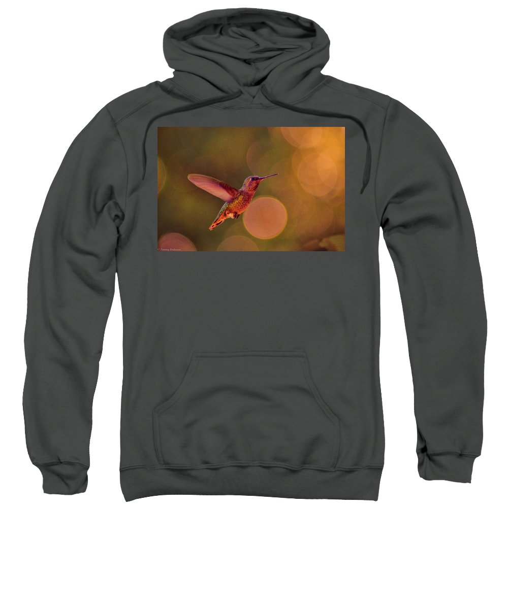 Calfiornia Sweatshirt featuring the photograph California Hummingbird by Tommy Anderson