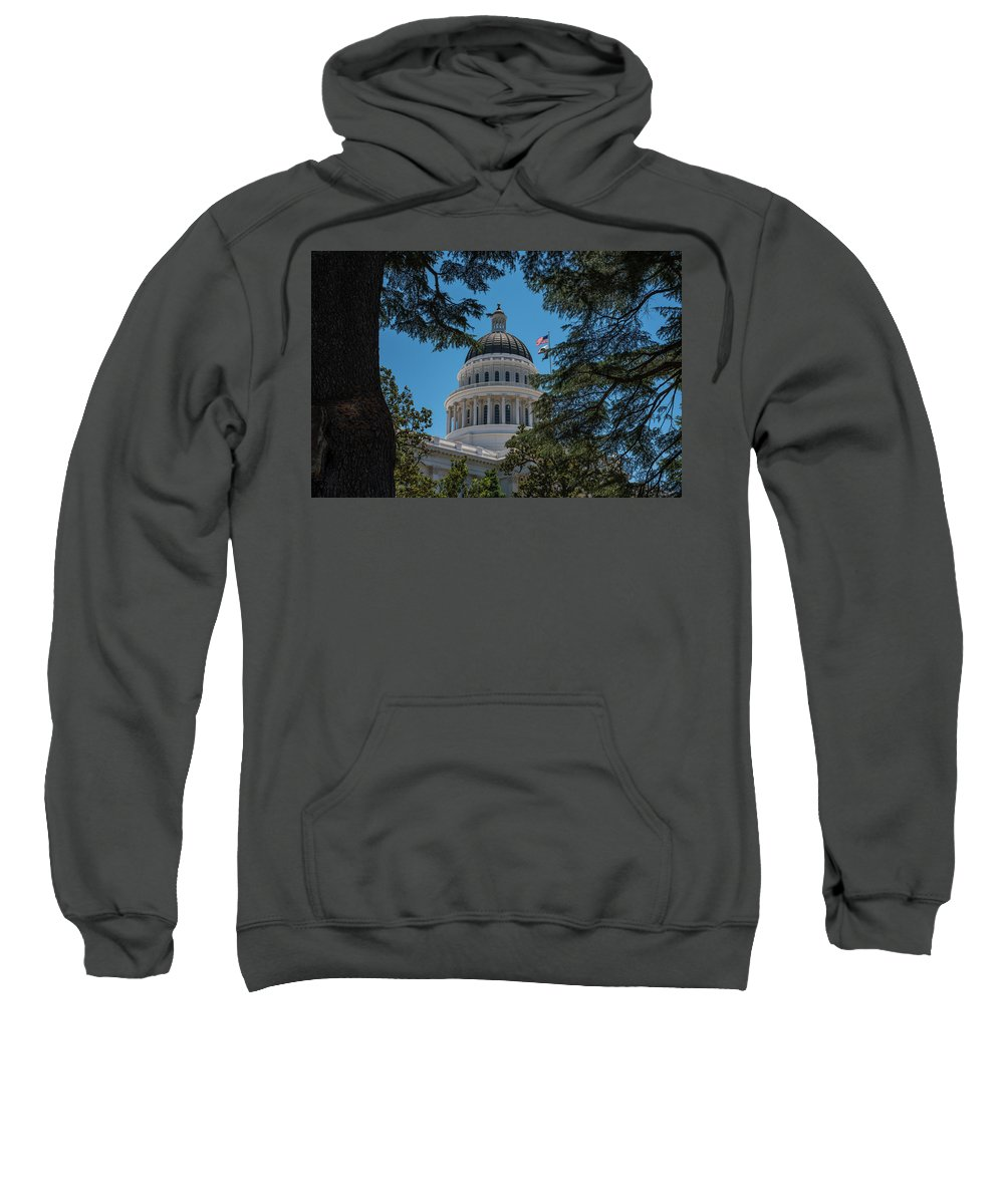 Architecture Sweatshirt featuring the photograph California State Capital by Richard White