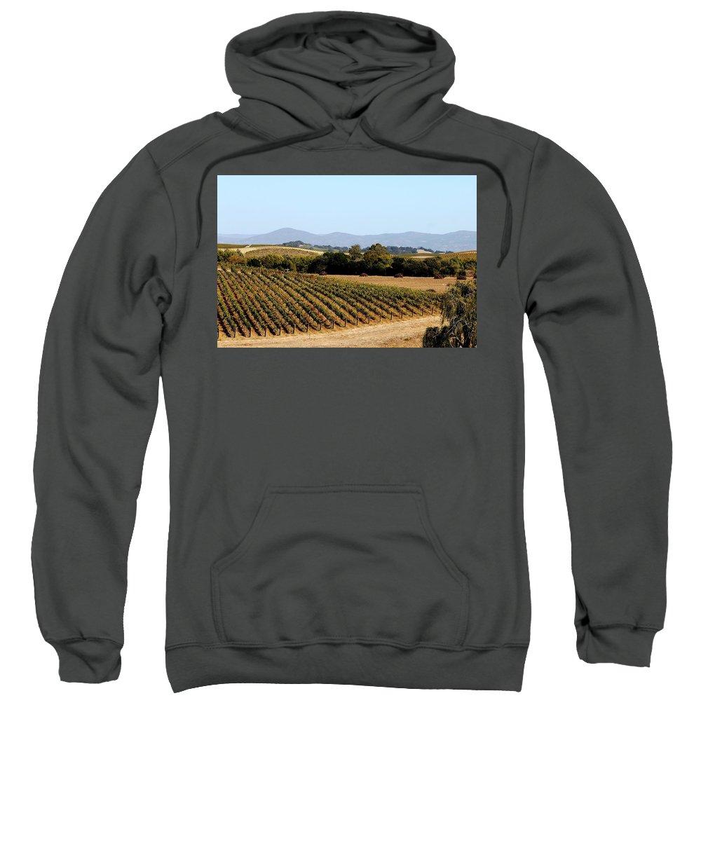 Vineyard Sweatshirt featuring the photograph California Vineyards by Charlene Reinauer