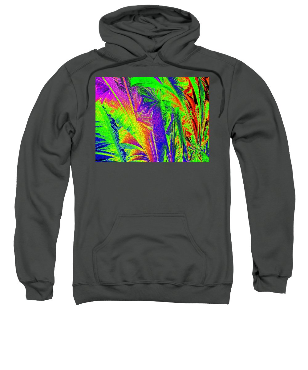 Abstract Sweatshirt featuring the digital art Call Of The Jungle by Will Borden