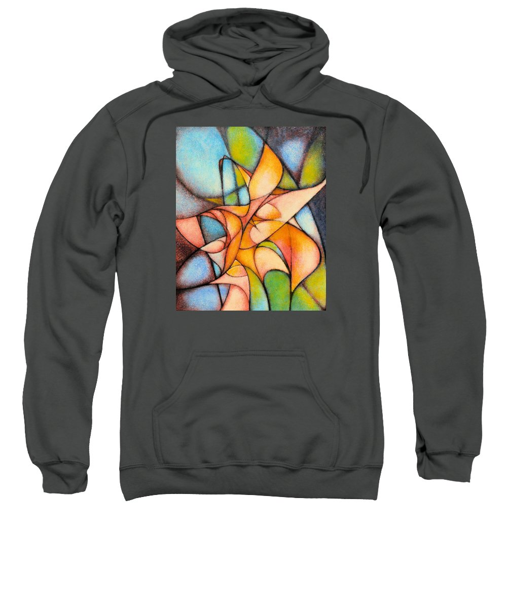 Contemporary Sweatshirt featuring the painting Calla Lillies by Kevin Lawrence Leveque