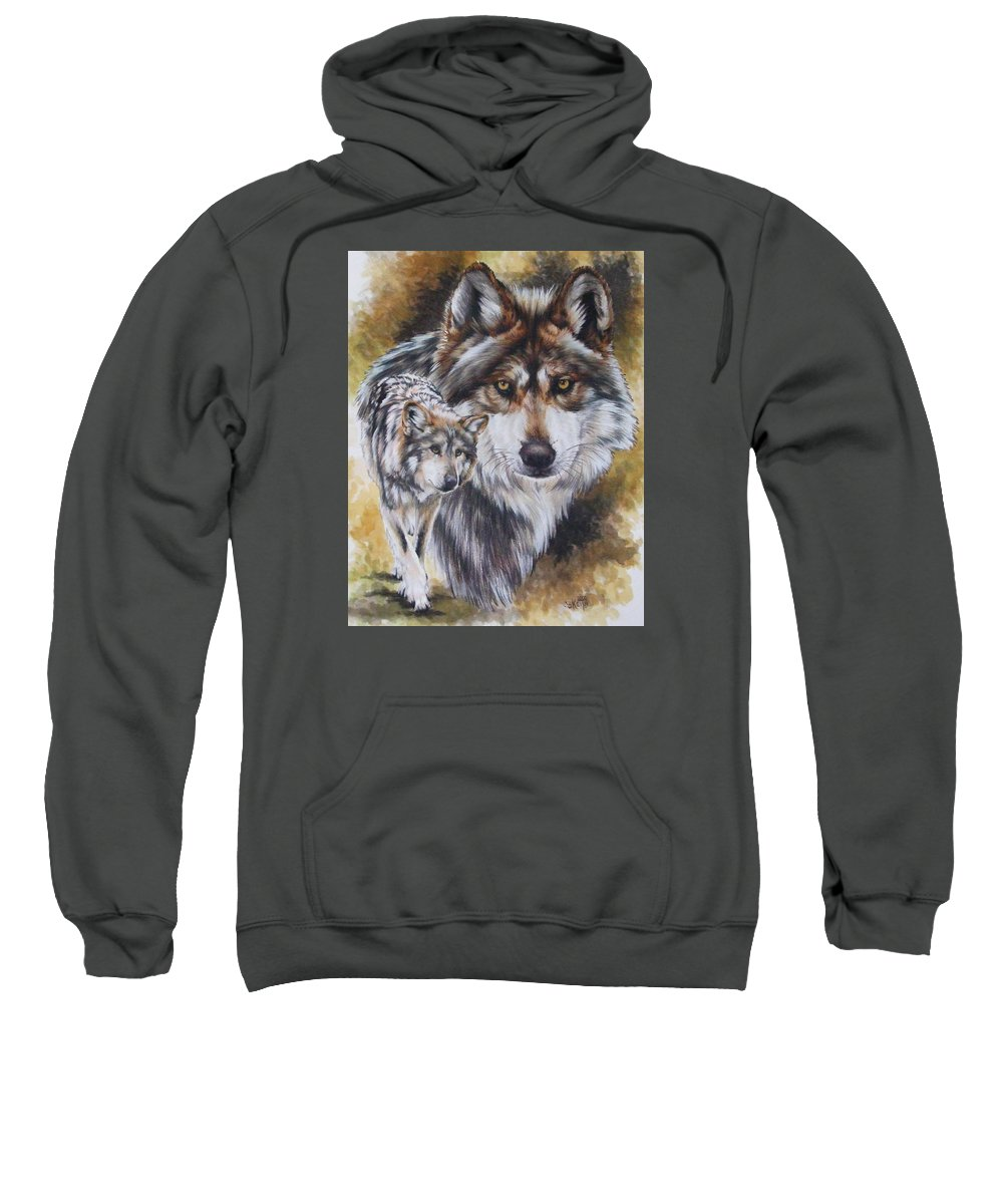 Wildlife Sweatshirt featuring the mixed media Callidity by Barbara Keith