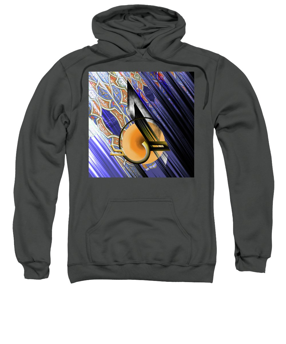 Abstract Sweatshirt featuring the painting Calligraphy 103 3 by Mawra Tahreem