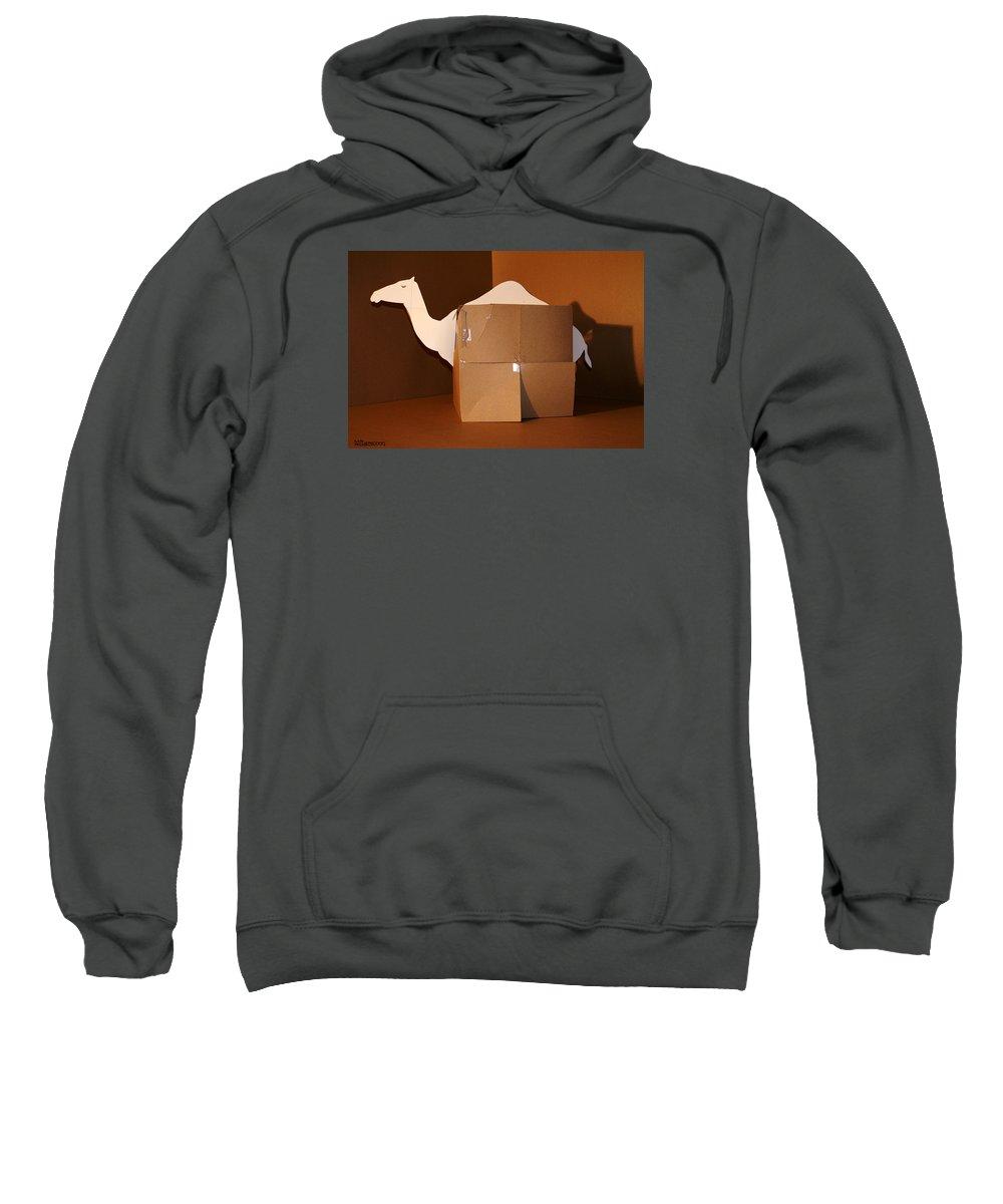 Mr Roboman Sweatshirt featuring the sculpture Camel 1 by Mr ROBOMAN