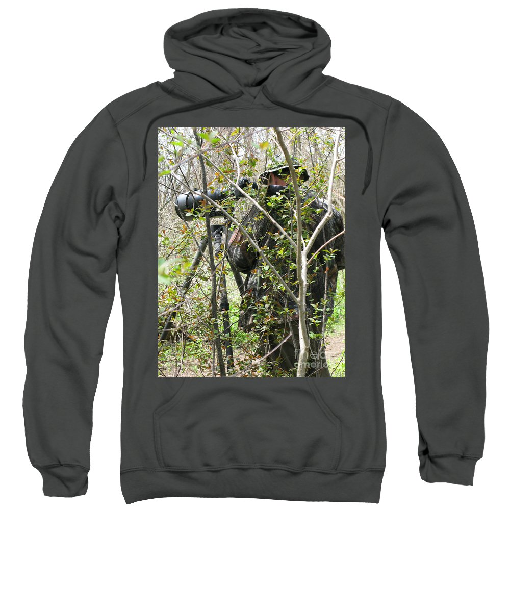 Photographer Sweatshirt featuring the photograph Camouflage by Ann Horn