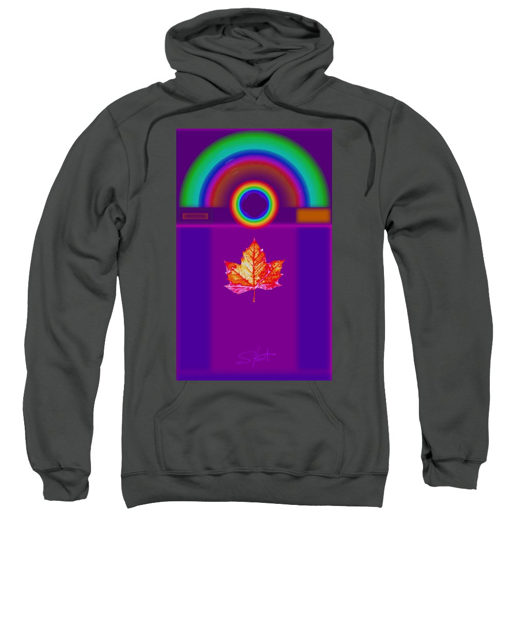 Classical Sweatshirt featuring the digital art Canadian Palladian by Charles Stuart