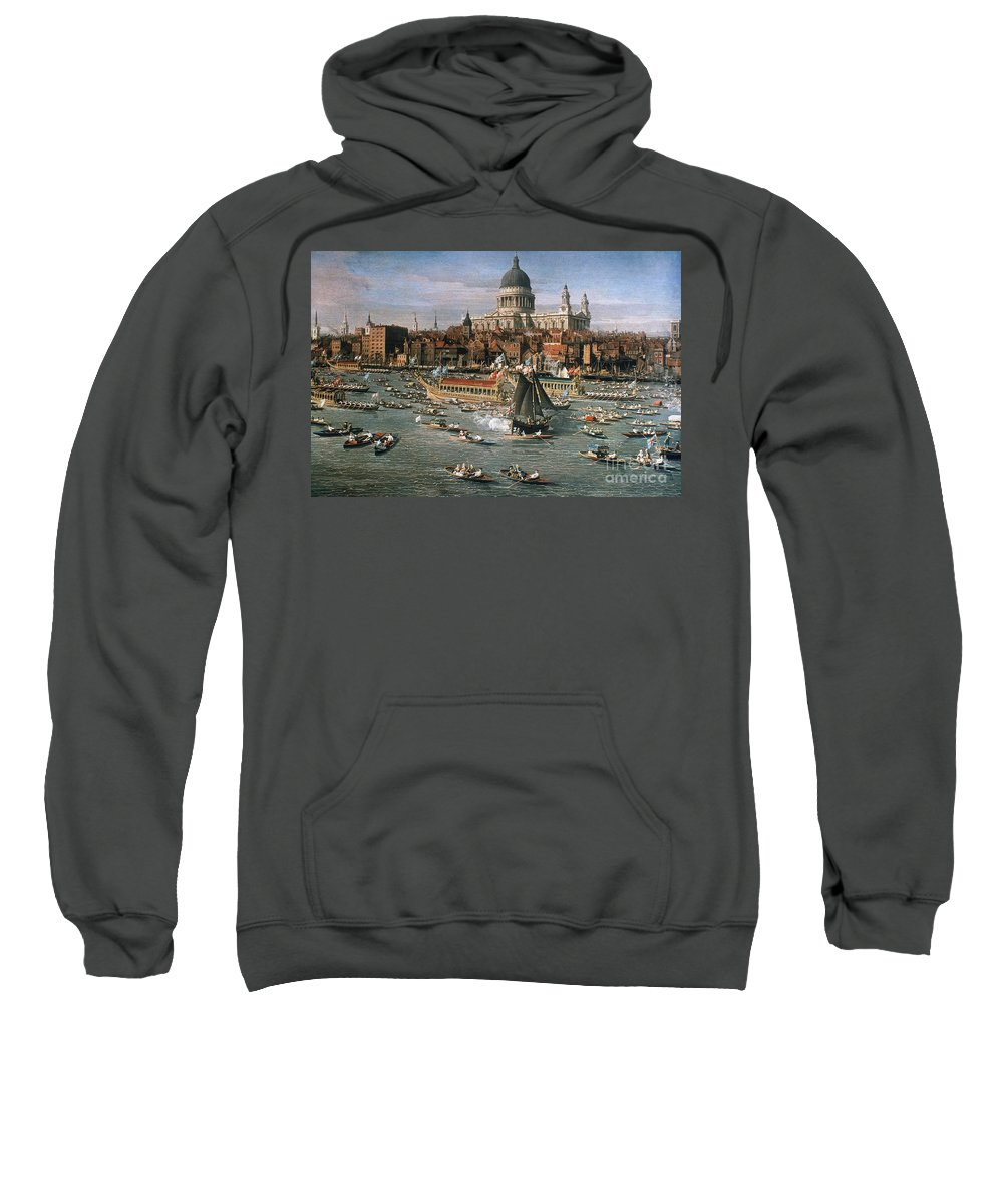 18th Century Sweatshirt featuring the photograph Canaletto: Thames, 18th C by Granger