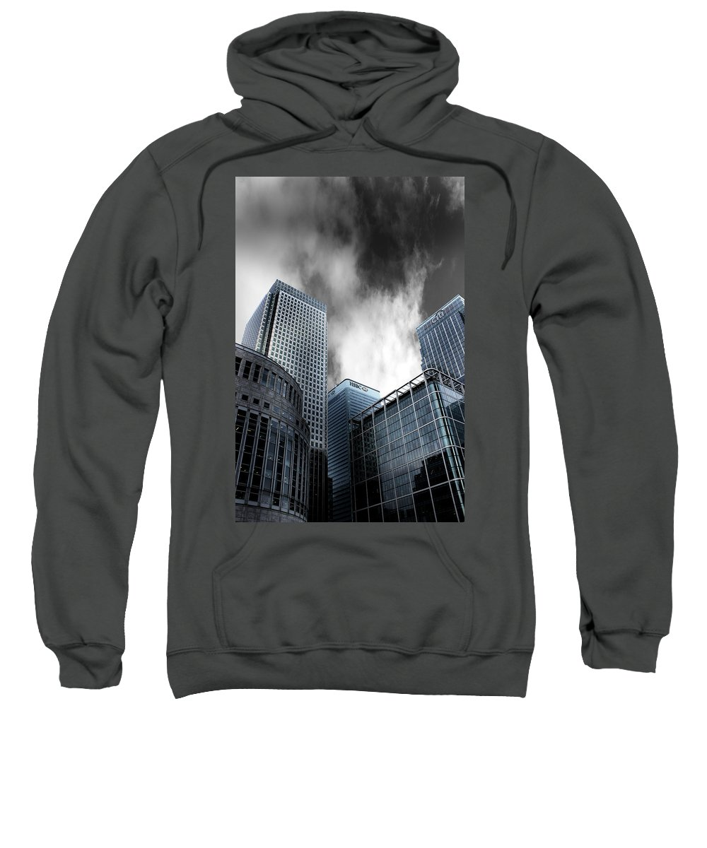 Canary Wharf Sweatshirt featuring the photograph Canary Wharf by Martin Newman
