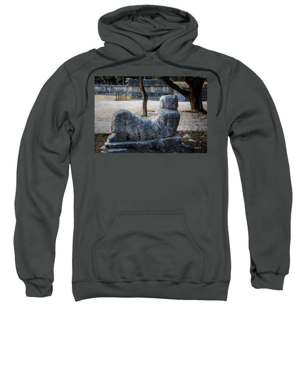 Cancun Sweatshirt featuring the photograph Cancun Mexico - Chichen Itza - Mayachacmool by Ronald Reid