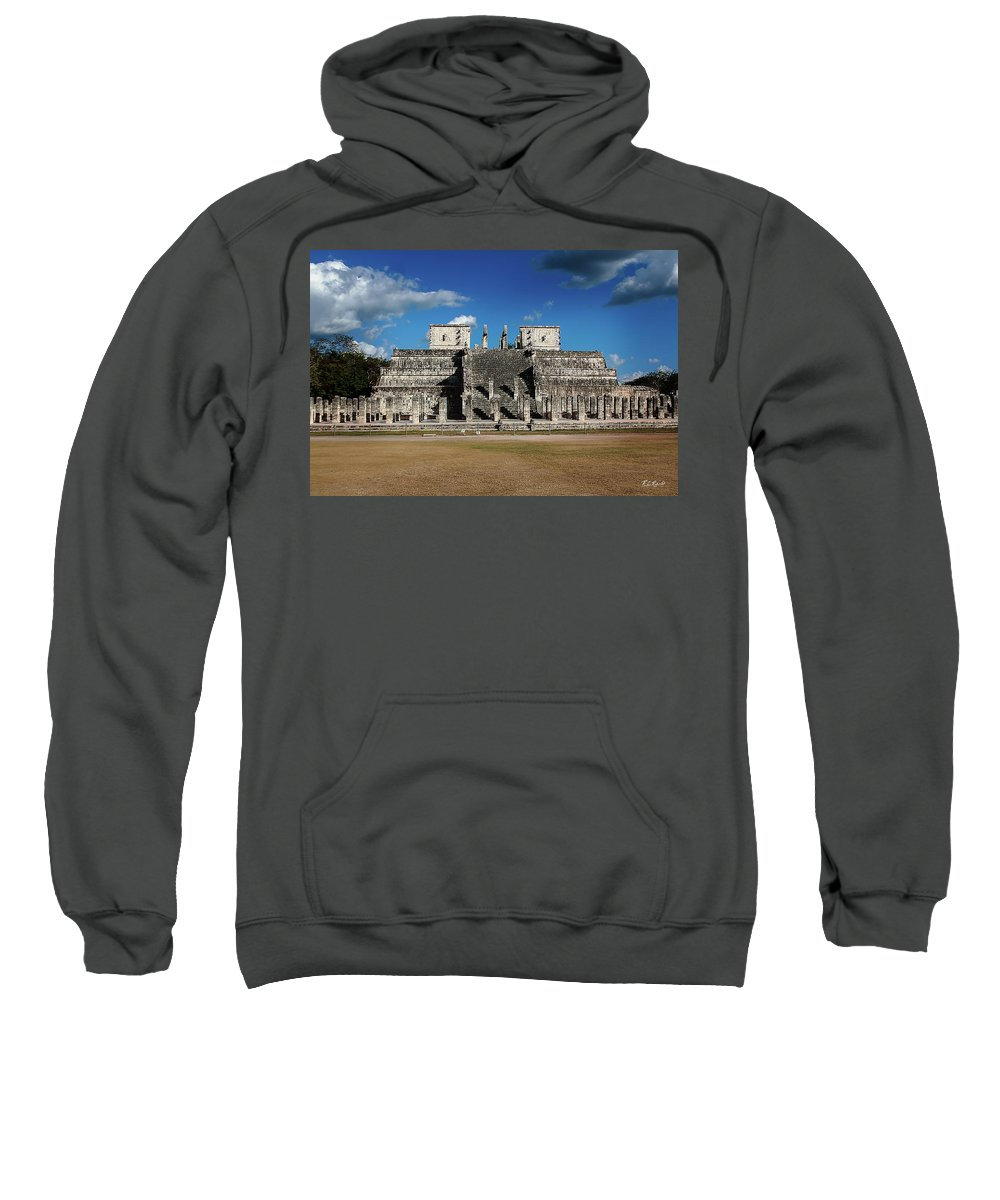 Cancun Sweatshirt featuring the photograph Cancun Mexico - Chichen Itza - Temple Of The Warriors by Ronald Reid