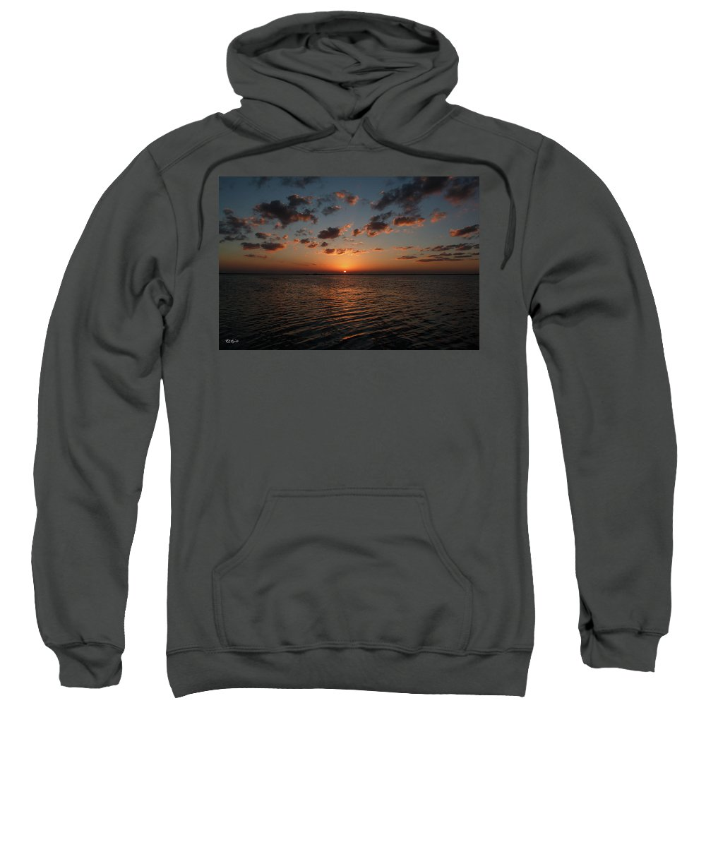 Cancun Sweatshirt featuring the photograph Cancun Mexico - Sunset Over Cancun by Ronald Reid