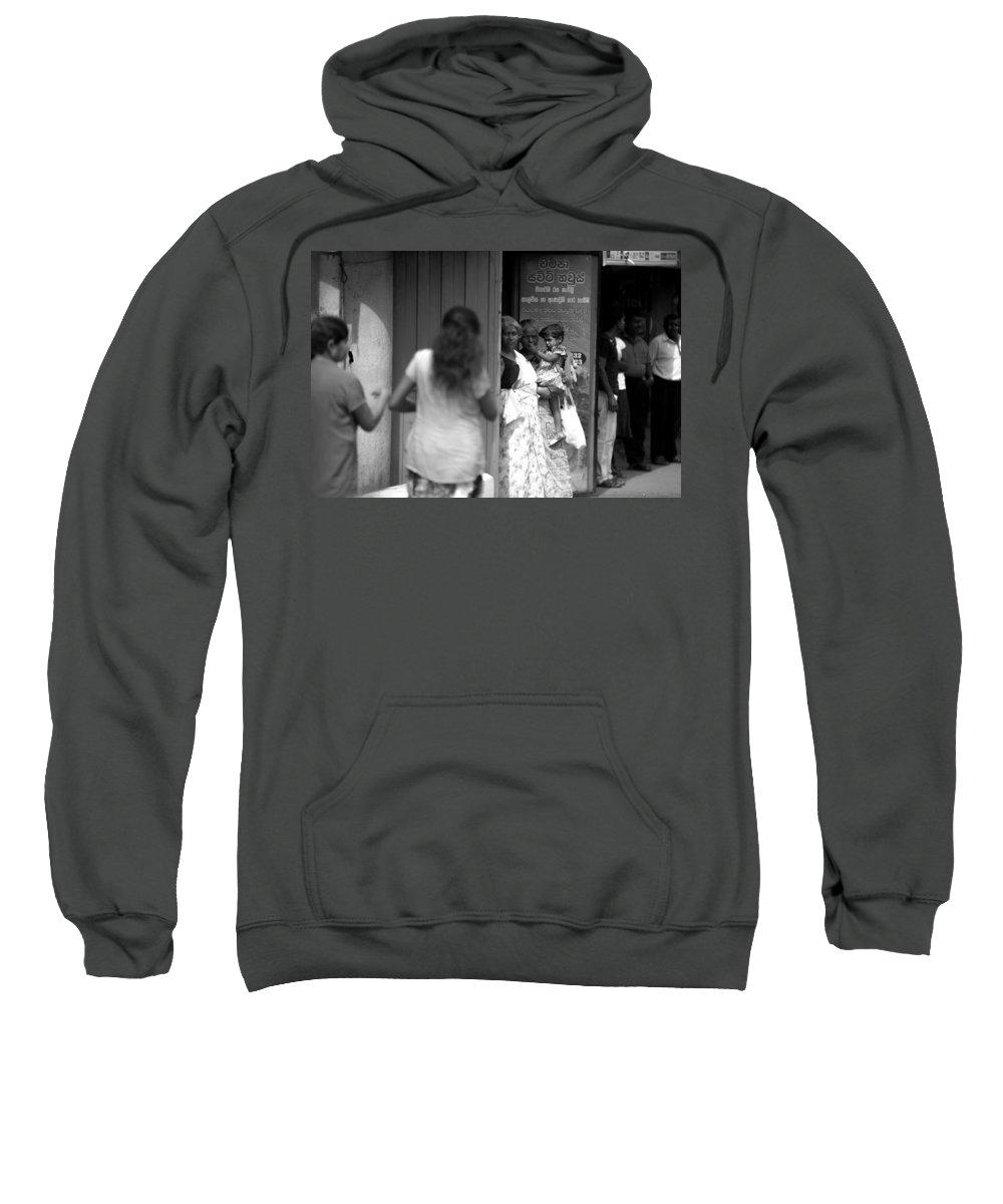 Candid Sweatshirt featuring the photograph Candid Shot by Nadir Khan