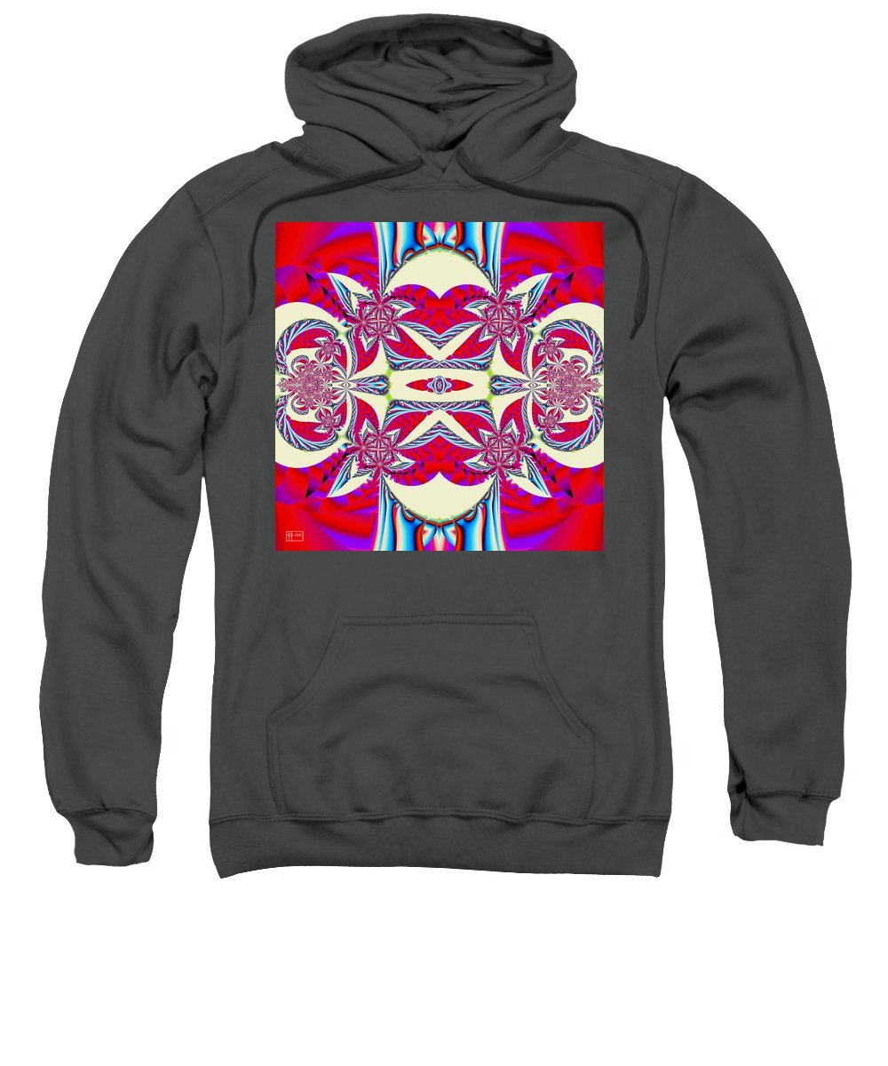 Abstract Sweatshirt featuring the digital art Candyman by Jim Pavelle
